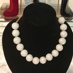 Kate Spade crystal large ball necklace